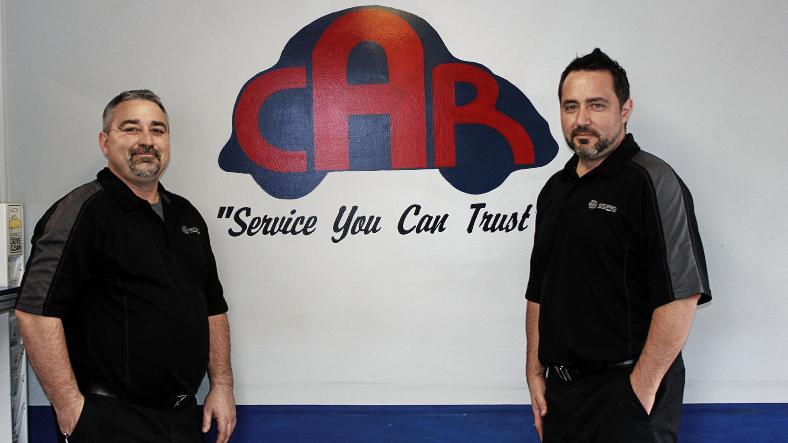Co-Owners of Cino Auto Repair, brothers Luigi and Sergio Cino